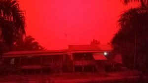 Red Sky in Indonesia