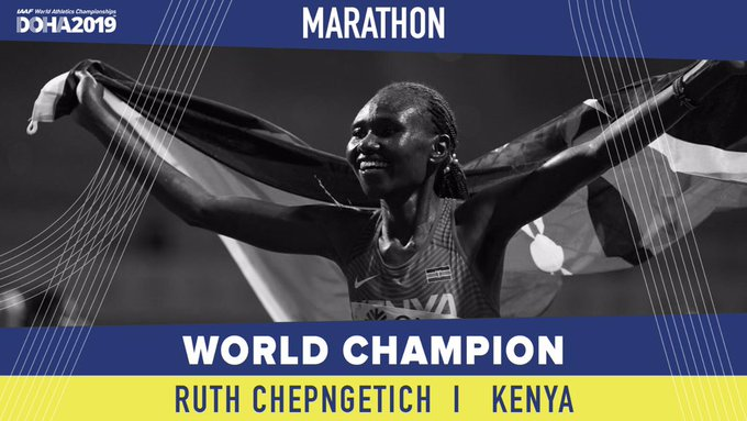 Ruth Chepngetich wins gold